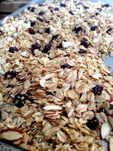 Low Sugar Vanilla Bean Granola made so simple and so delicious with all natural ingredients!