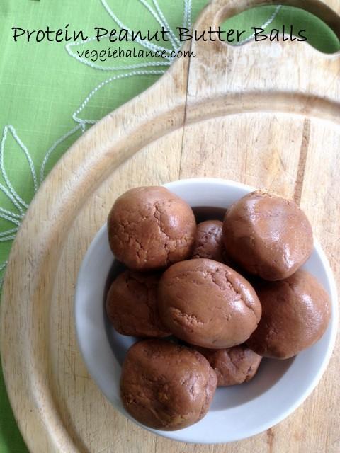 Protein Pre-Workout Peanut Butter Balls - Veggiebalance.com
