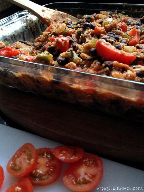 Vegetarian Quinoa Black Bean Taco Bake - Protein Packed - Veggiebalance.com