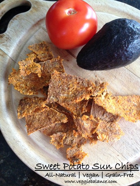 All-Natural Vegan Grain-Free Sweet Potato Sun Chips, Low Calories - Veggiebalance.com