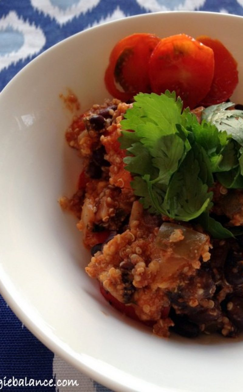 Quinoa Black Bean Taco Bake