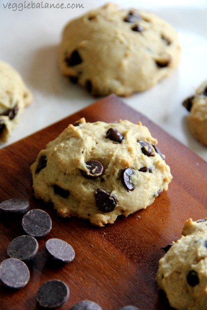 Skinny chocolate chip cookies recipe - Veggiebalance.com