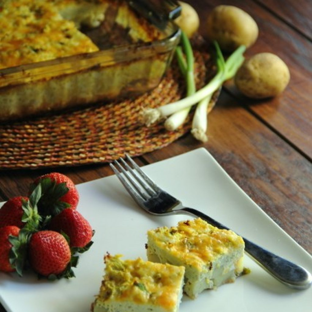 Crustless Vegetarian Quiche (Gluten Free)