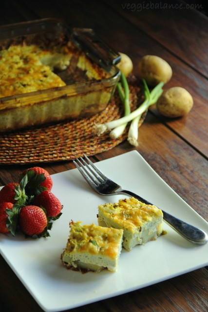 Crustless Vegetarian Quiche - Veggiebalance.com