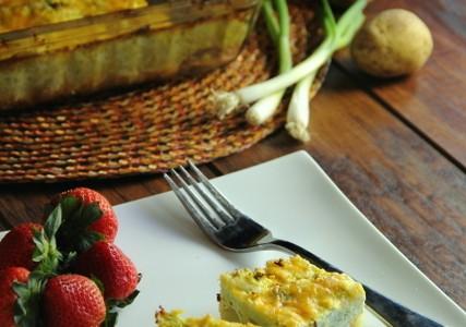 Crustless Vegetarian Quiche (Gluten Free)