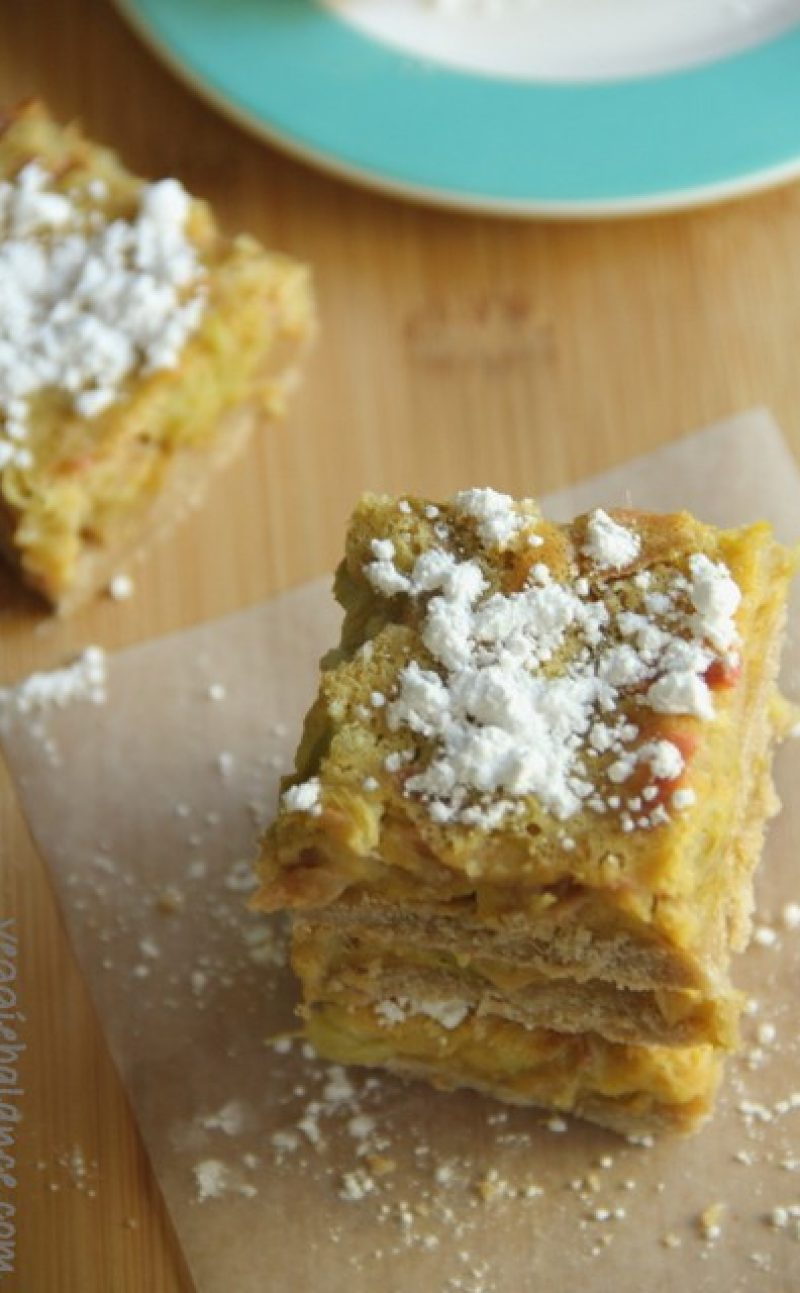 Lemon Rhubarb Bars Recipe
