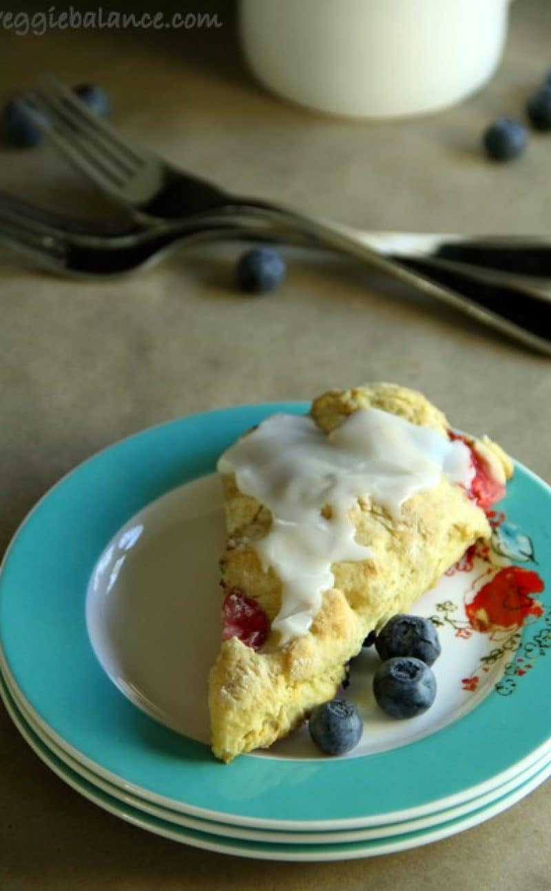 Strawberry Blueberry Scones