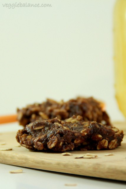 Healthy No Bake Cookies - Veggiebalance.com