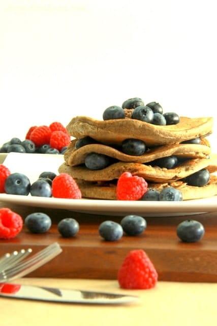 Blueberry Protein Pancake - Veggiebalance.com