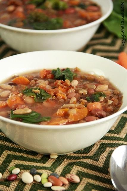 Crock pot 15 Bean Soup - Veggiebalance.com