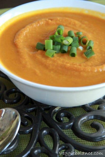 Ginger Carrot Soup - Veggiebalance.com