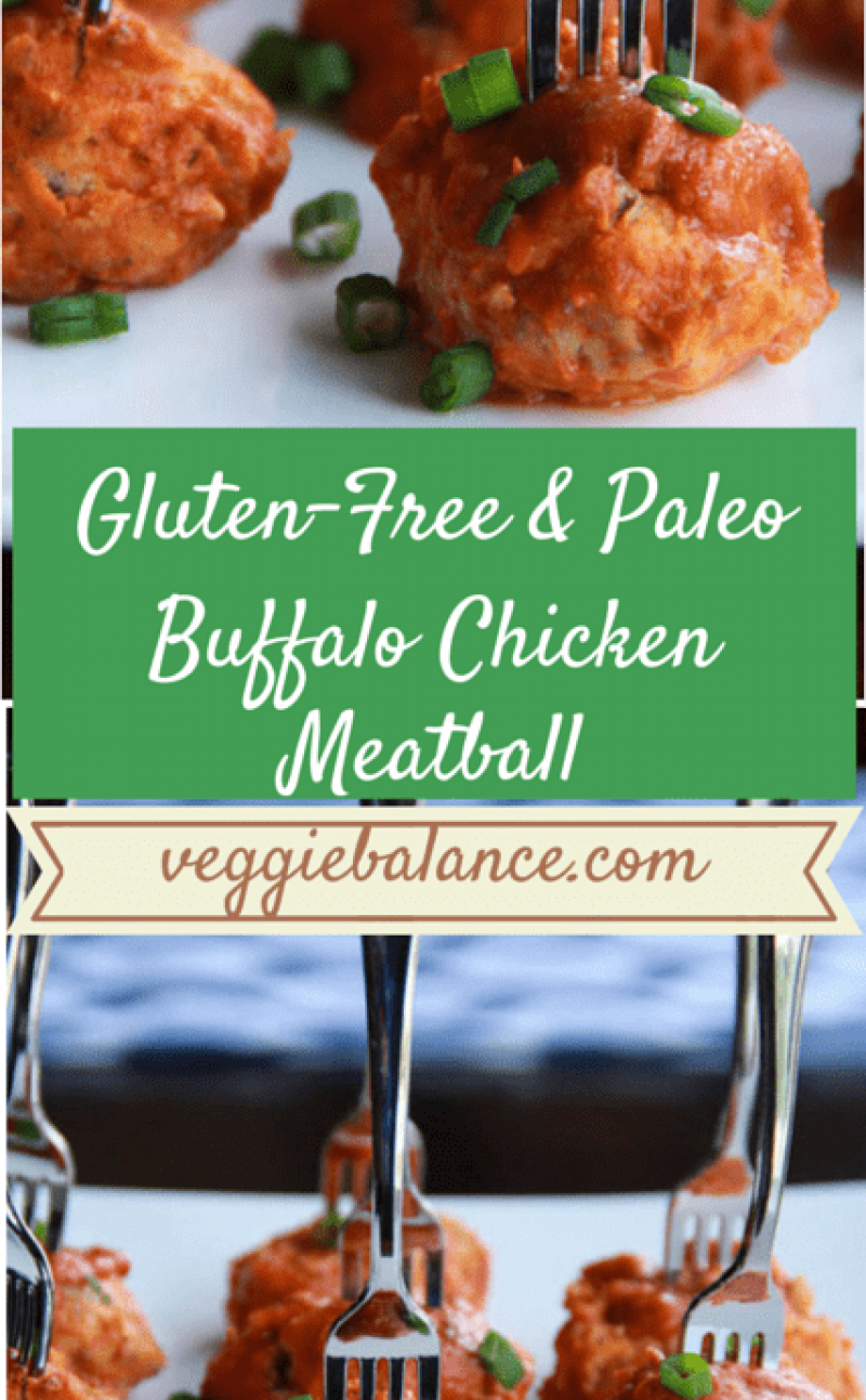 Gluten-Free Buffalo Chicken Meatballs