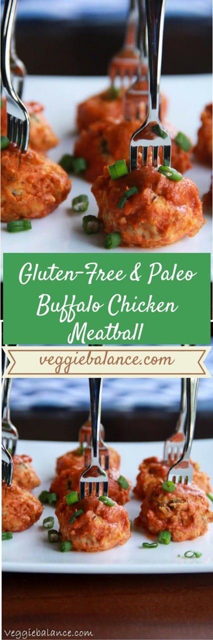 Gluten-Free Buffalo Chicken Meatballs Recipe