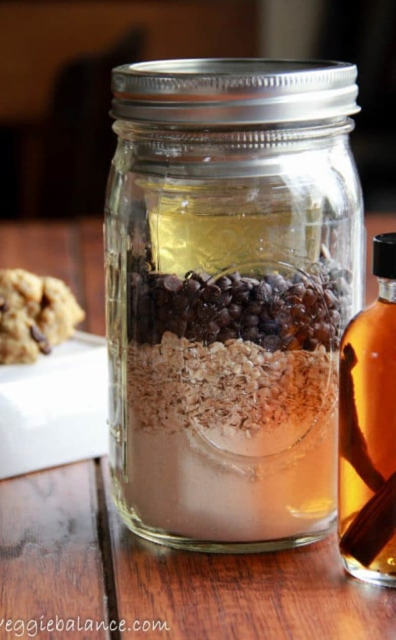 Gluten-Free Oatmeal Chocolate Chip Cookies In A Jar