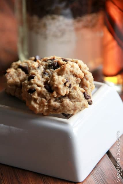 Gluten-Free Oatmeal Chocolate Chip Cookies In A Jar - Veggiebalance.com