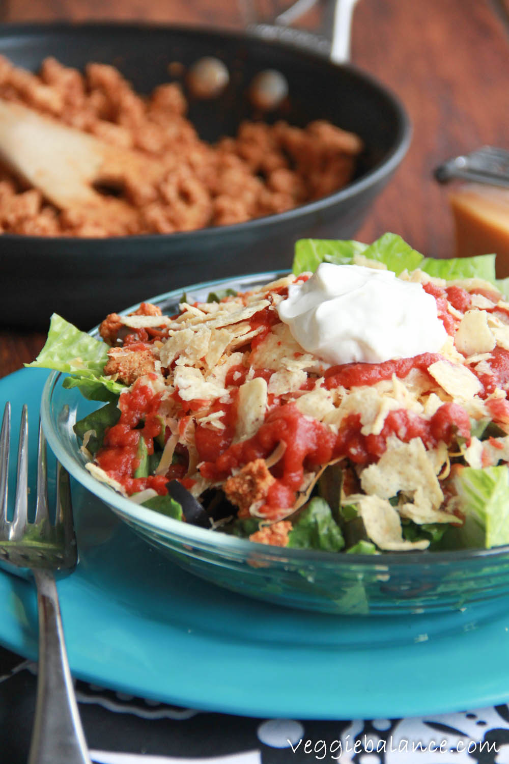 Best Taco Salad Ever with Make your own taco sauce at home with this easy homemade taco sauce recipe.