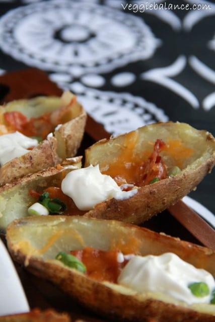 Healthy Baked Potato Skins - Veggie Balance