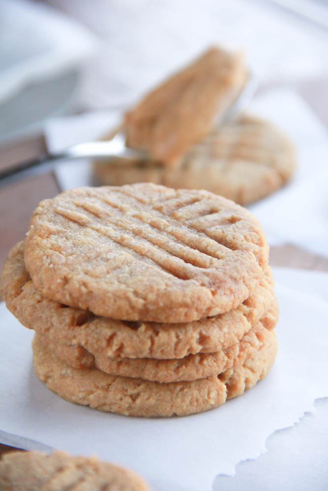 Gluten Free Peanut Butter Cookies are Healthy and Skinny with Only 4 natural ingredients. So easy to make they are dangerous. . . So dangerously good that is. (Gluten Free, Dairy Free, Vegan Friendly)