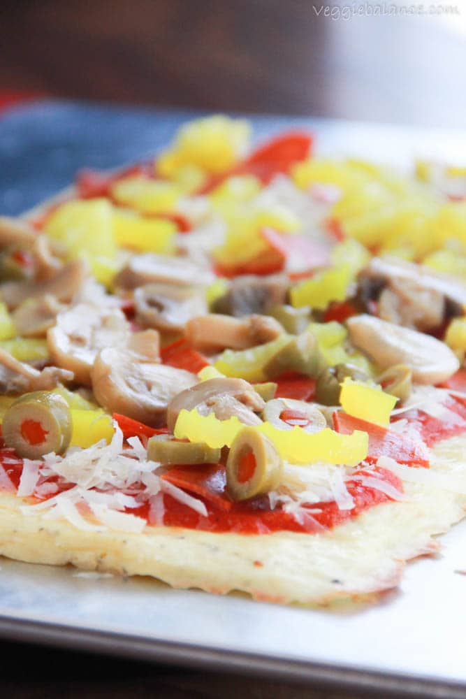 Low Carb Pizza Crust - Veggiebalance.com