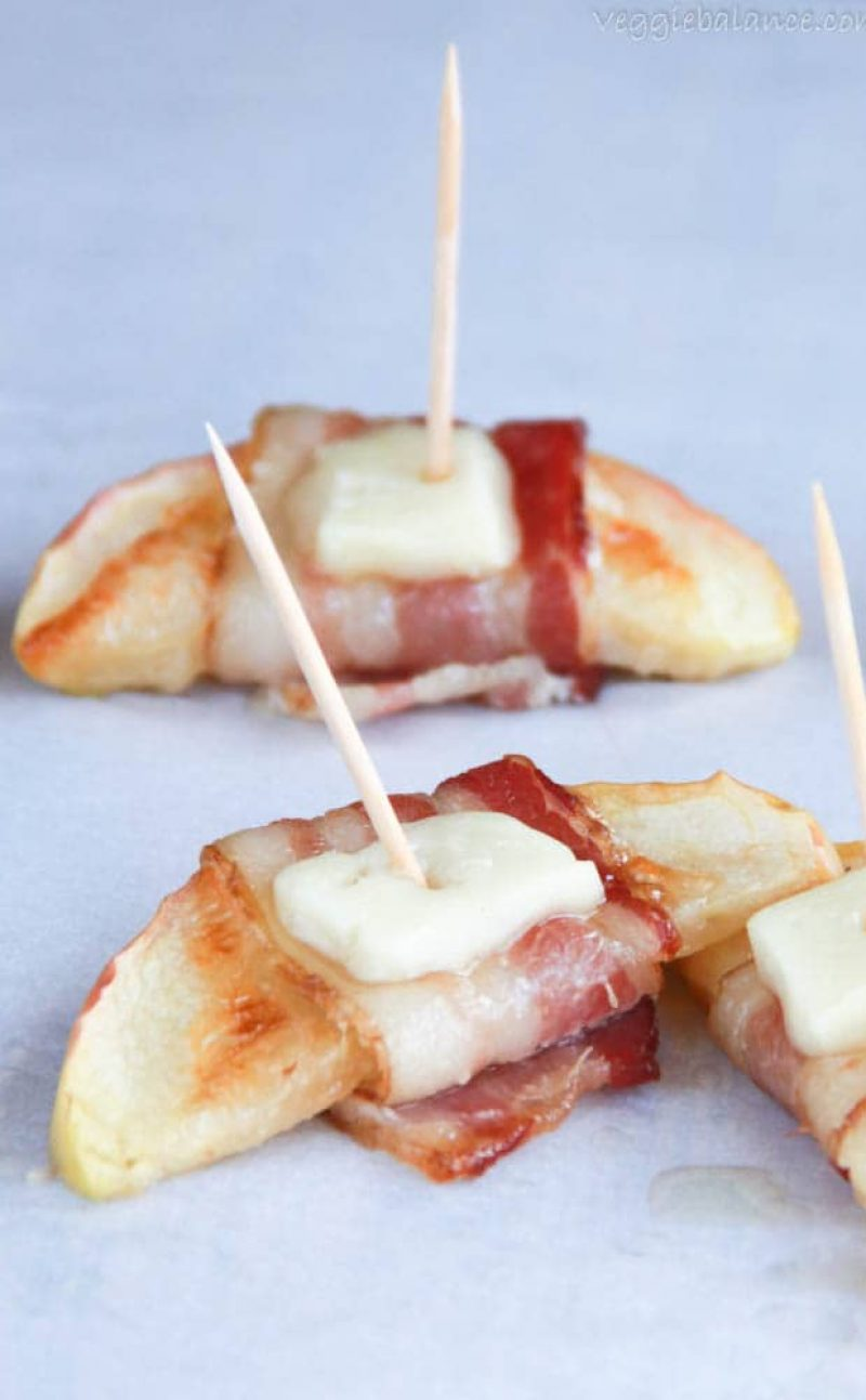 Bacon Wrapped Apple Slices