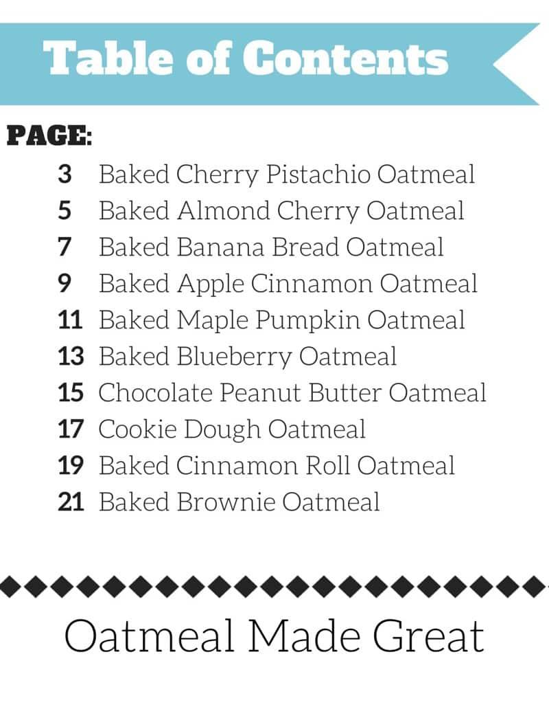 Oatmeal Made Great eCookbook