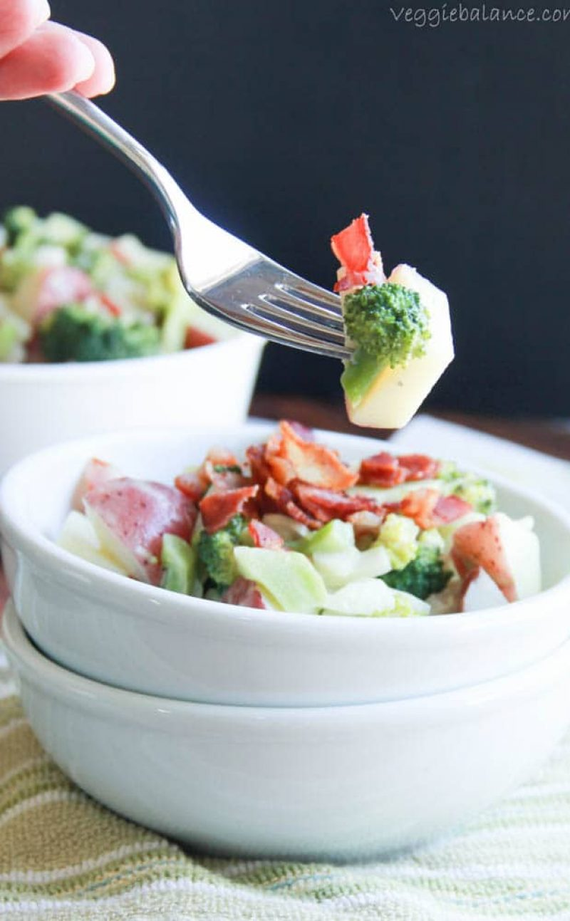 Broccoli Potato Bacon Salad