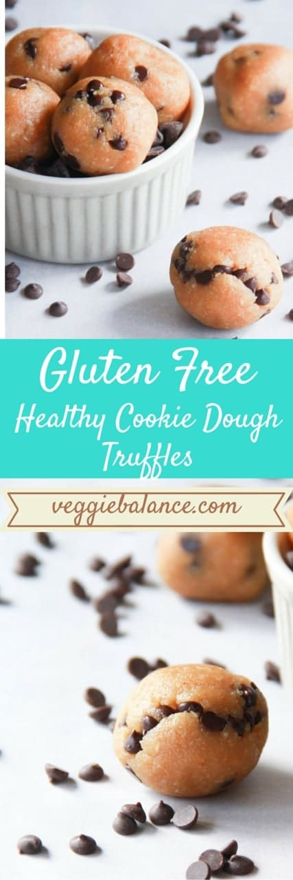 Healthy Cookie Dough Truffles {GF,Vegan, Paleo} - Veggiebalance.com