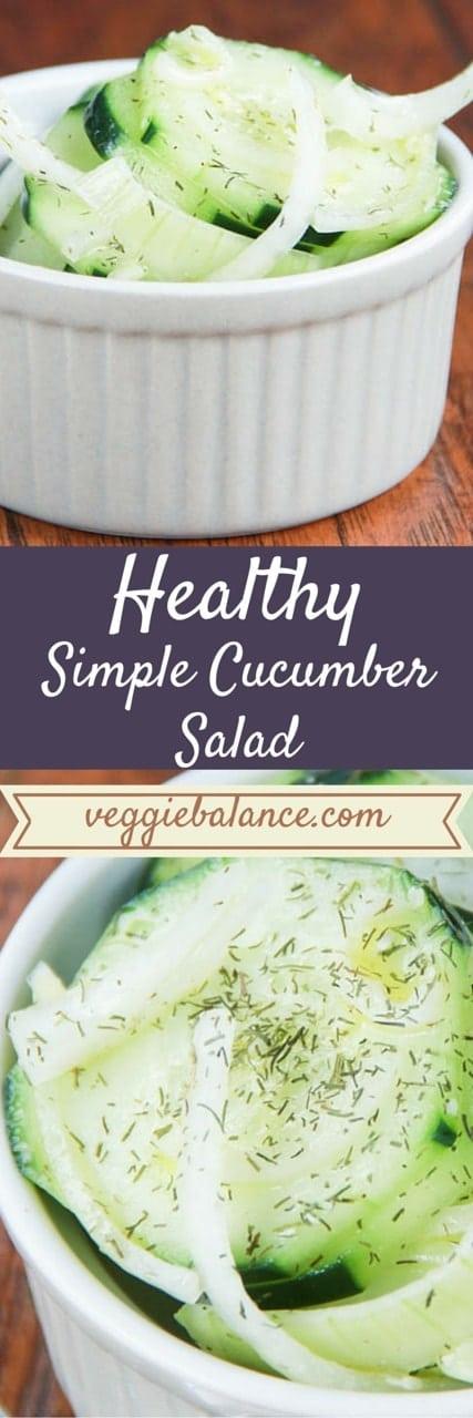 Healthy Cucumber Salad - Veggiebalance.com