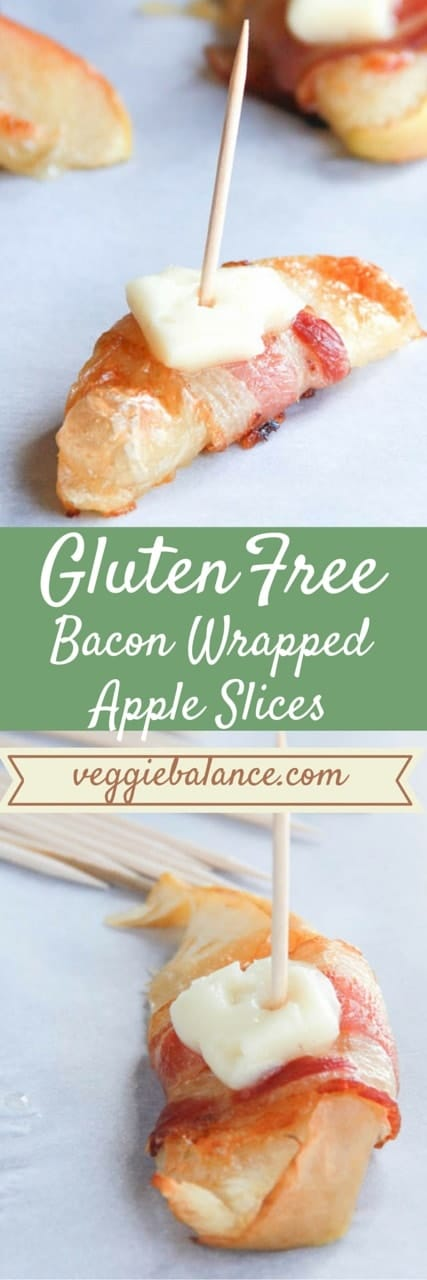Bacon Wrapped Apple Slices - Veggiebalance.com