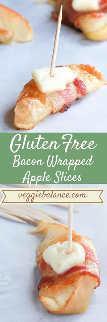 Bacon Wrapped Apple Slices - Veggiebalance.com