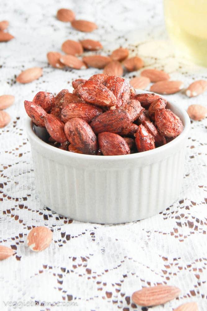 Spiced Almonds - Veggiebalance.com