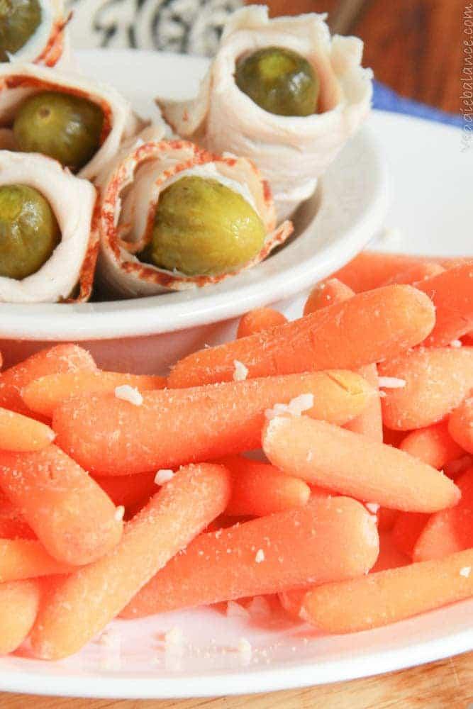 Garlic Baby Carrots - Veggiebalance.com