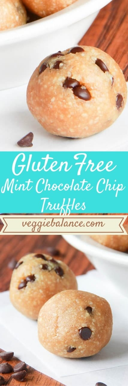 Mint Chocolate Chip Truffles - Veggiebalance.com