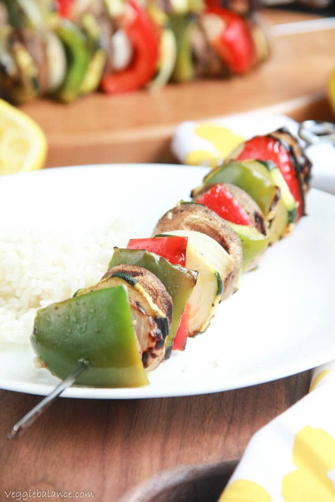 Grilled Vegetable Kabobs - Veggiebalance.com