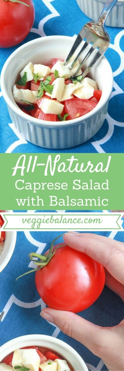 Caprese Salad with Balsamic - Veggiebalance.com