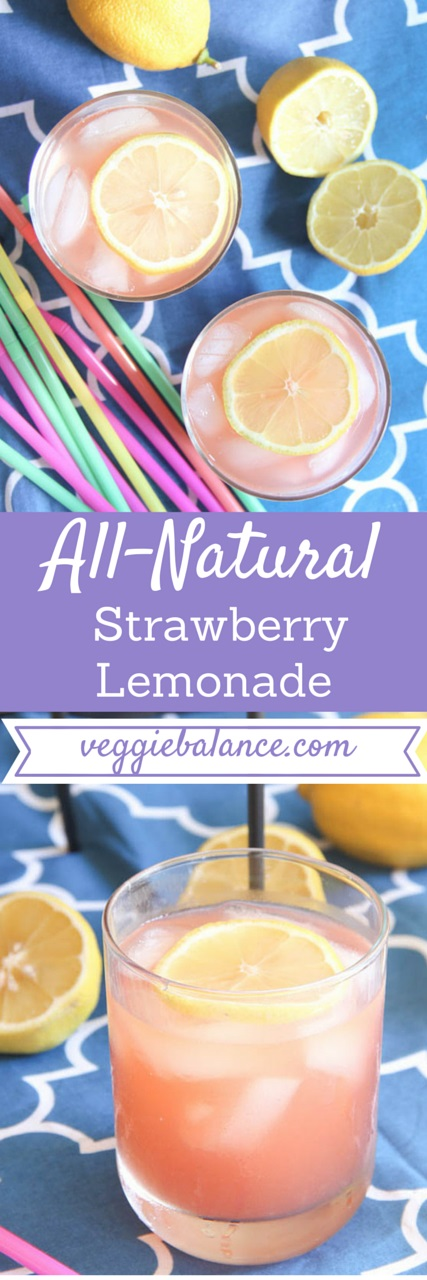 ... all-natural, low-sugar strawberry lemonade. So easy and so delicious