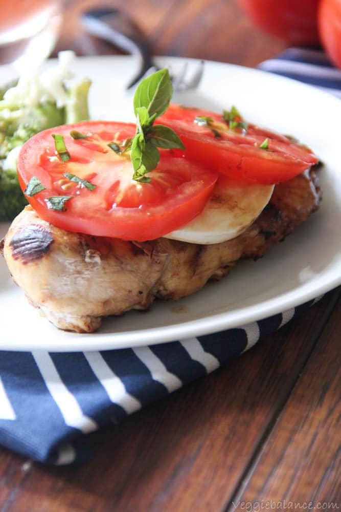 Tomato Mozzarella Chicken - Veggiebalance.com