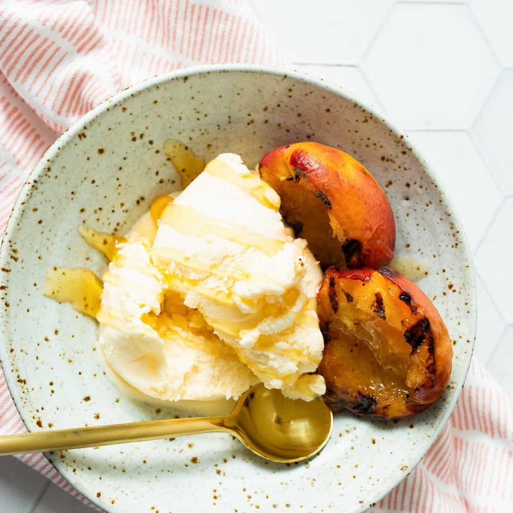 Grilled Peaches with Ice Cream Recipe