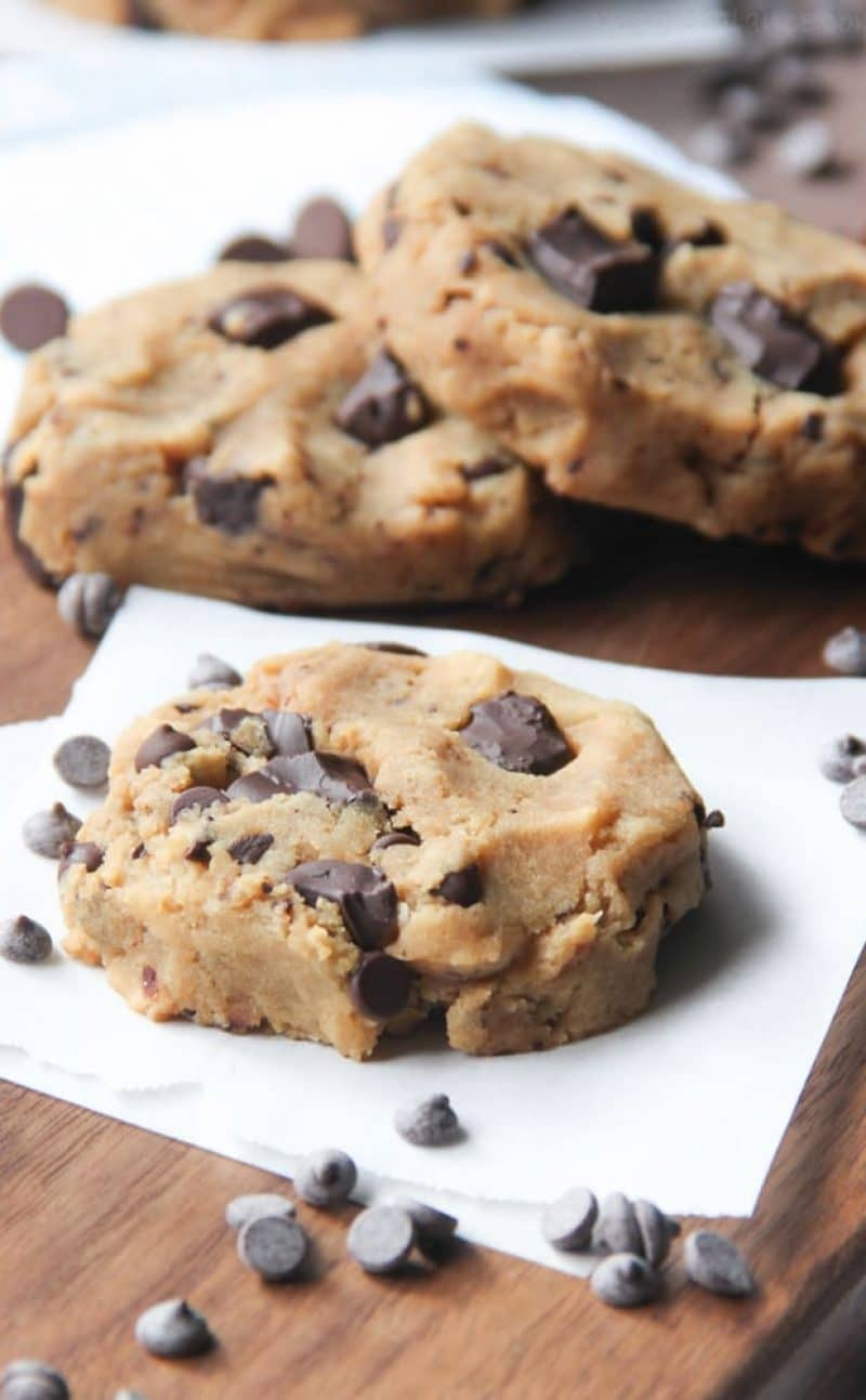 Healthy Chocolate Chip Cookies (Gluten Free, Vegan, Low Sugar)