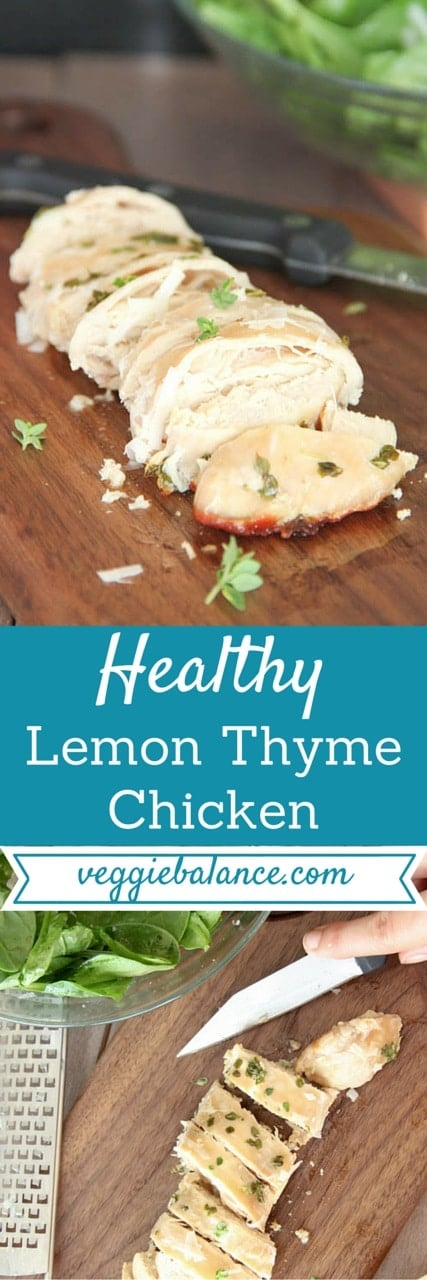 Lemon Thyme Grilled Chicken Breast -Veggiebalance.com