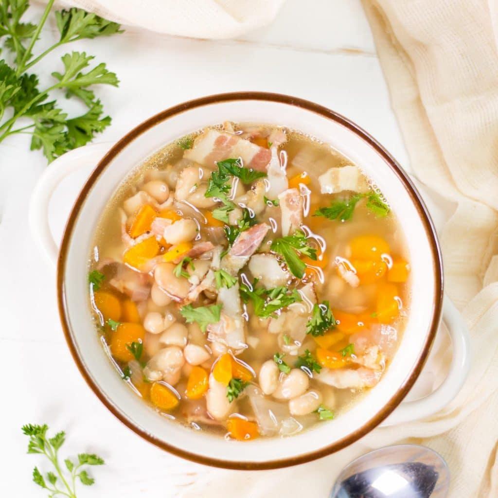 Bean and Bacon Soup {Campbells Copycat}