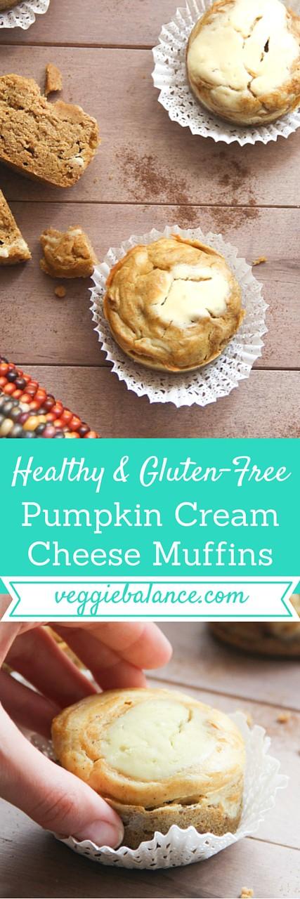 Gluten-Free Pumpkin Cream Cheese Muffins - Veggiebalance.com
