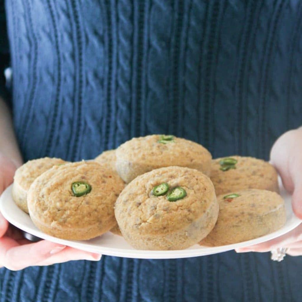 Gluten Free Cornbread Muffins {Healthy, Low-Sugar}