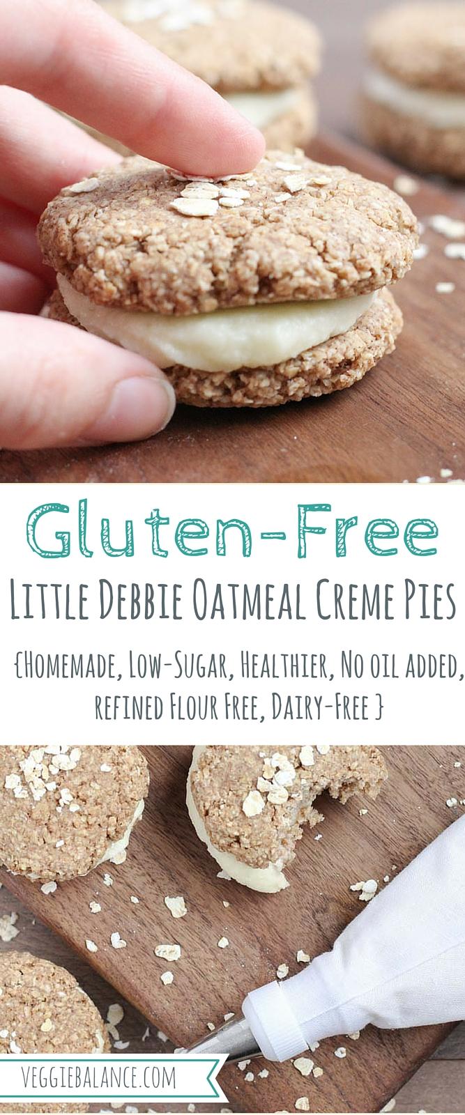 Gluten-Free Little Debbie Oatmeal Creme Pies {Low-Sugar}