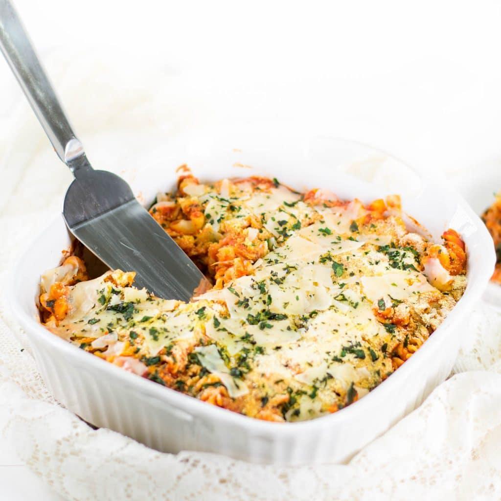 Gluten-Free Chicken Parmesan Casserole