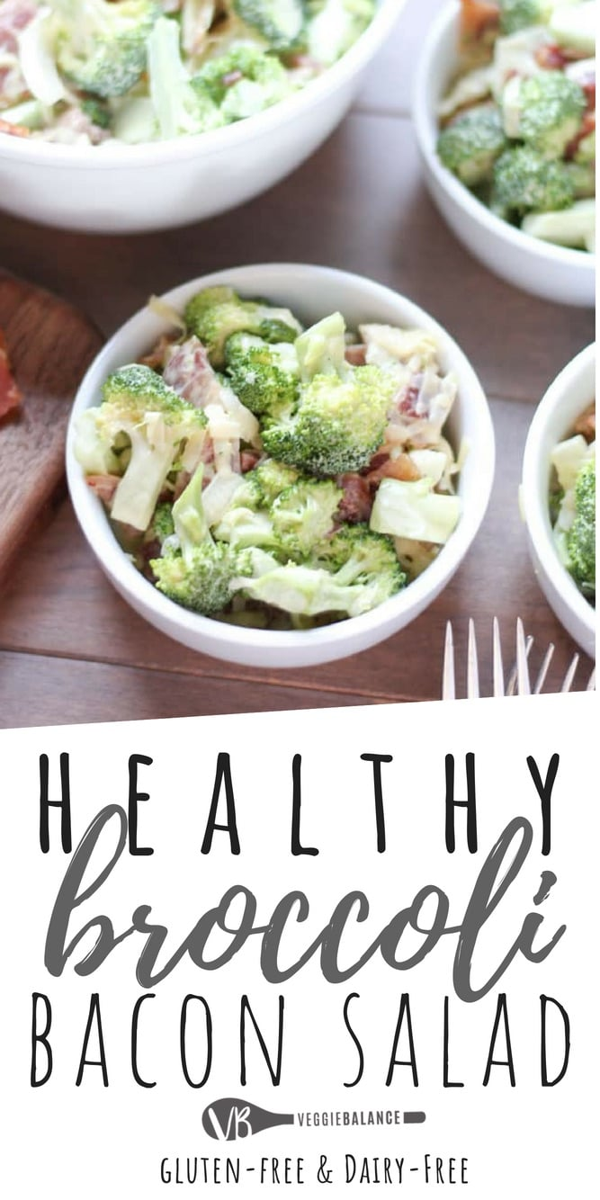 Healthy Broccoli Salad Recipe with Homemade Mayonnaise
