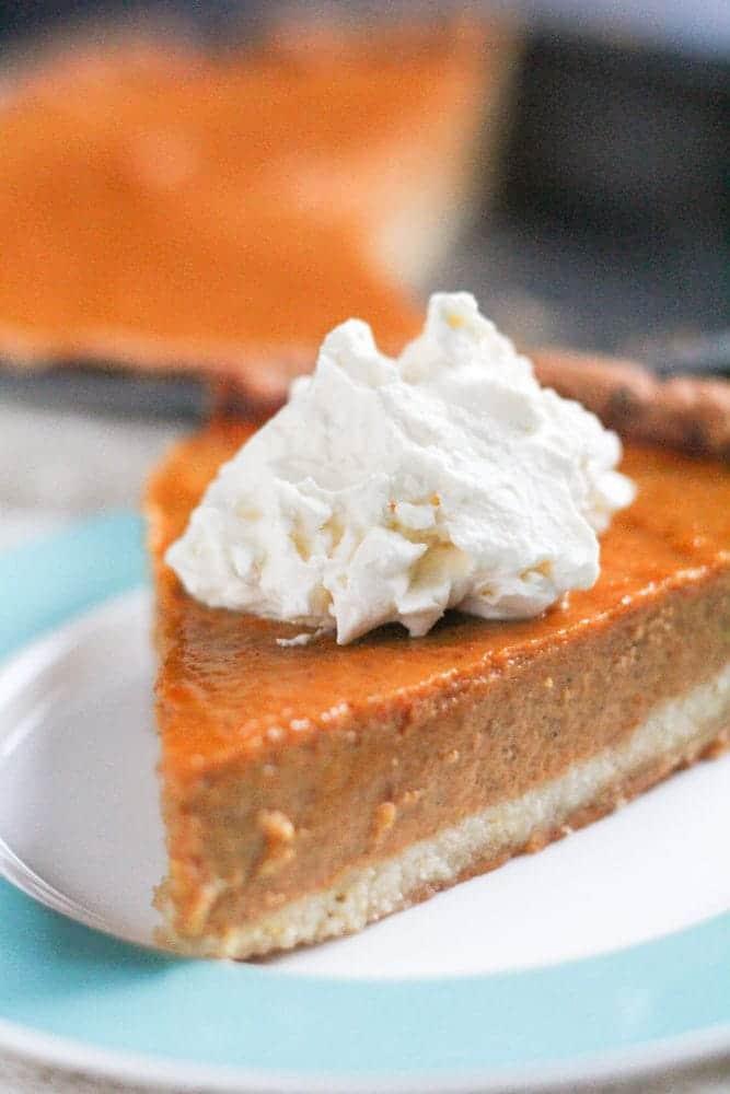 Healthy Gluten-Free Pumpkin Pie Recipe Low-Sugar Low-Carb - Veggiebalance.com