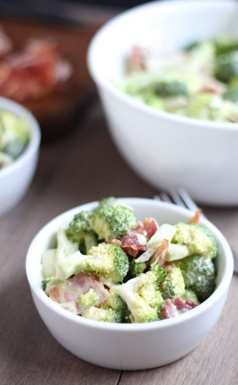 Healthy Broccoli Salad {Gluten-Free, Homemade Mayo}