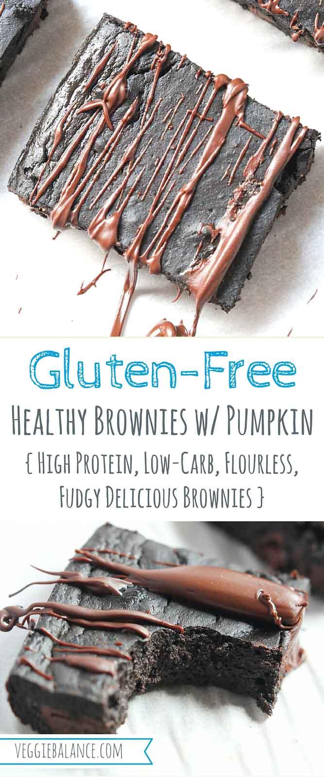 Healthy Brownies with Pumpkin - Veggiebalance.com