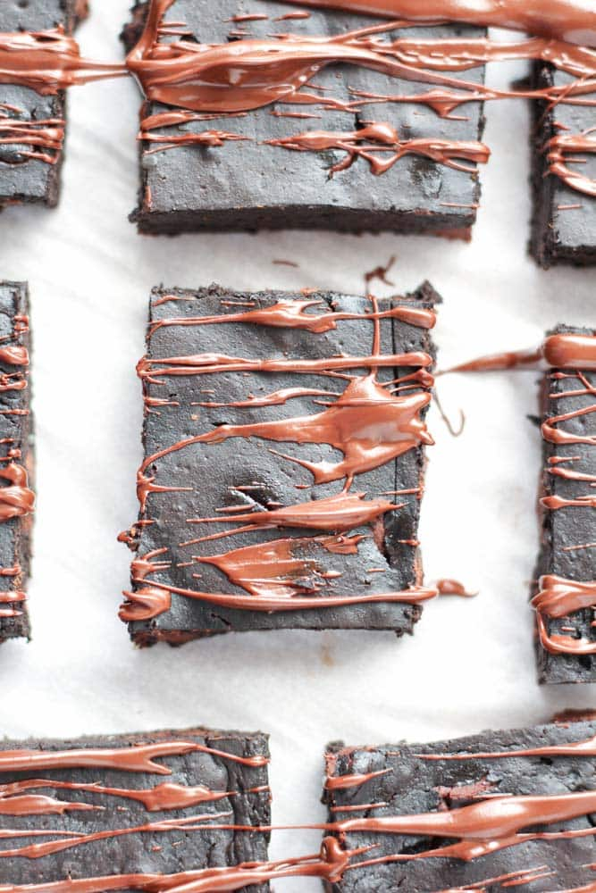 Healthy Brownies with Pumpkin - Veggiebalance.com